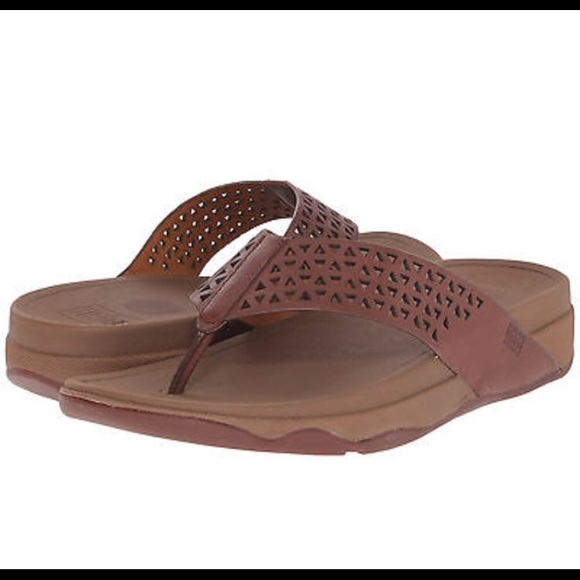 cd1452e8487e Fitflop Shoes - Fitflop Lattice Surfa brown leather sandal
